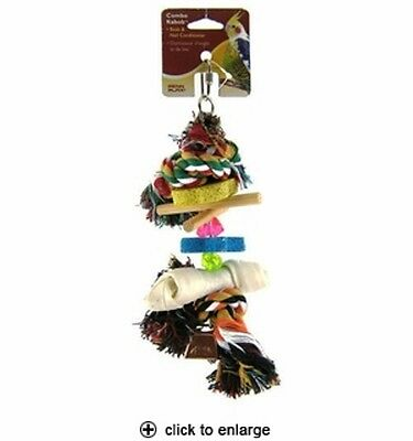 Penn-Plax BA-921Combo Kabob for cockatiels and medium birds includes 6 toys in 1