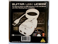 Behringer Guitar Link UCG102 USB Interface. Boxed PC or Mac