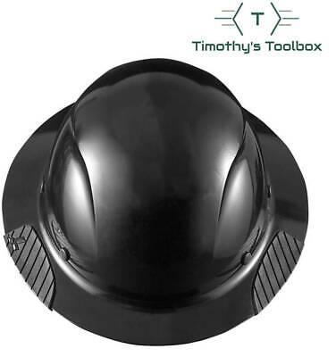 Lift Safety Hdf-15kg Dax Black Full Brim Hard Hat W Ratchet Suspension- New