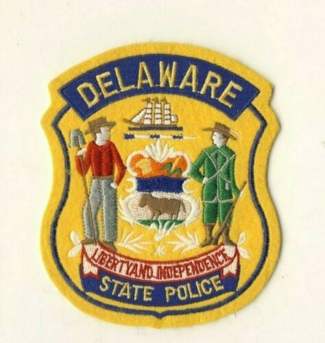 """Delaware State Police 4.75"""" Cheesecloth Felt Patch"""