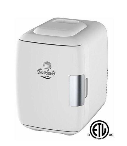 Cooluli CMF6 Mini Fridge Electric Cooler and Warmer  White,B