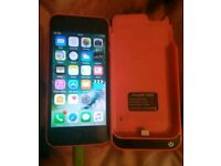 Pink iPhone 5c & charging case