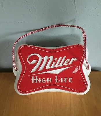 Vintage Miller High Life Beer Styrofoam Cooler Rope Handle 8 Can Ice Chest Foam