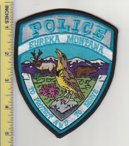 US Police Patch Eureka Montana Police Department