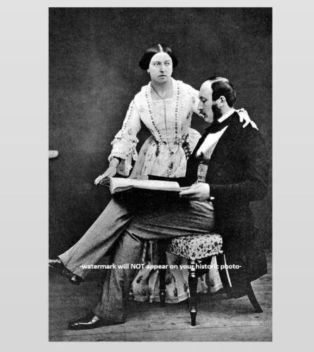 Prince Albert and Queen Victoria PHOTO Monarch of the United Kingdom 1854