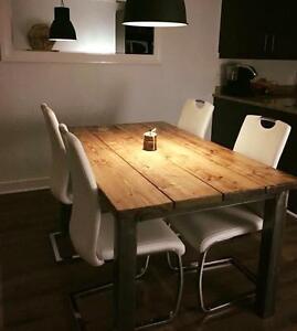 tables de cuisine  carrée DIRECTEMENT de L'ARTISAN