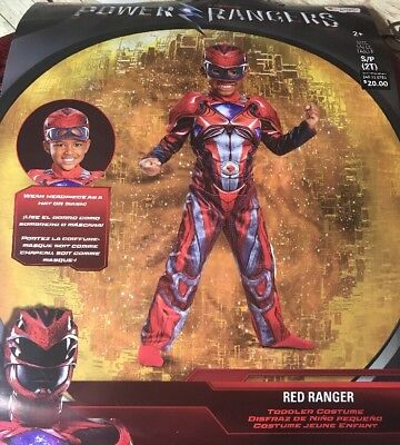 NEW NWT BOYS COSTUME TODDLER POWER RANGERS RED SIZE 2T