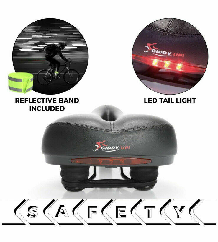 Giddy up Bike Seat Most Comfortable Memory Foam Waterproof Saddle Universal Fit for sale online