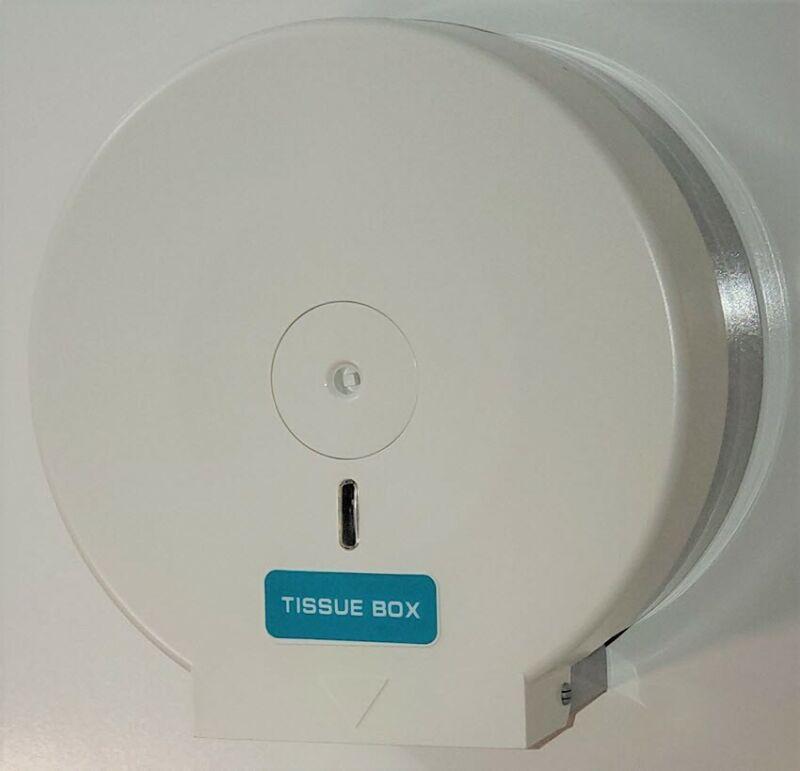 Jumbo Toilet Paper Dispenser White ABS Plastic