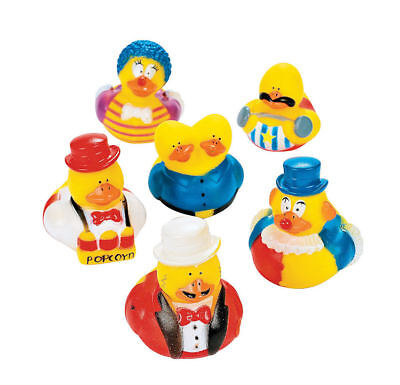 12 Carnival Rubber Ducks party favors Cake Toppers Circus Big Top