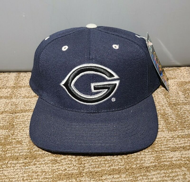 Vintage GEORGETOWN UNIVERSITY HOYAS COLOR ORANGE FITTED HAT Size 7 1/4 RARE 90s