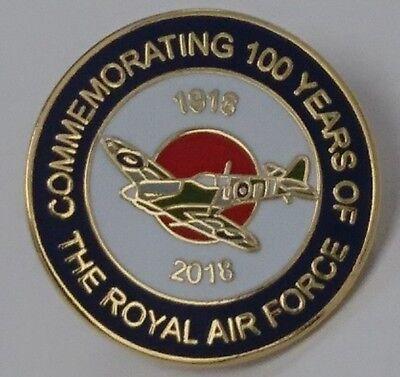 royal air force roundal 100 years lapel badge RAF Aerial warfare spitfire