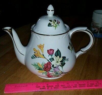 Vtg Arthur Wood  English floral teapot Dorset Staffordshire Ironstone GC