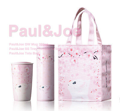 Starbucks 2017 Collaboration Paul U0026 Joe Tote Bag Double Wall Mug SS Troy SET