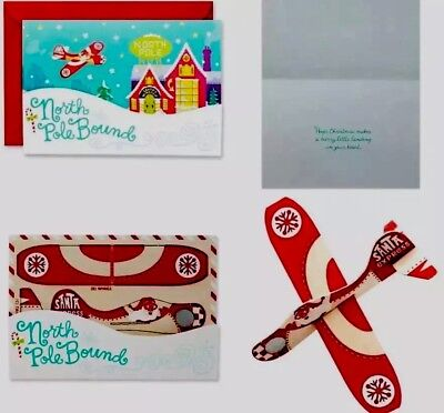 Hallmark Signature Collection Holiday Card: North Pole Bound Model Airplane New!](Paper Source Halloween Cards)