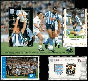 COVENTRY-CITY-FA-CUP-Winners-1986-1987-Football-Stamps-Kilkline-Cyrille-Regis