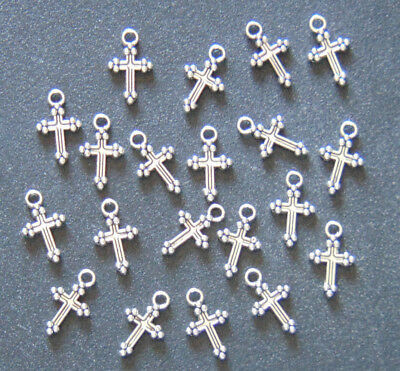 20 PIECES Cross Charms Pendants, Christian Jewelry Making Supplies Arts & Crafts - Christian Crafts