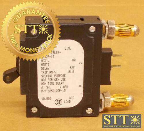 Lmlk1-1rls4-29928-15 Airpax 15 Amp Alm Bullet Circuit Breaker 80vdc