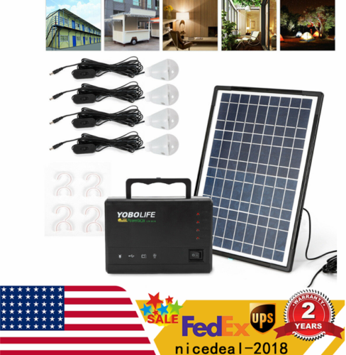 solar panel power storage generator led light