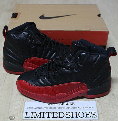 NIKE AIR JORDAN XII 12 FLU GAME BLACK RED OG 130690-061 US 8 taxi cherry wings