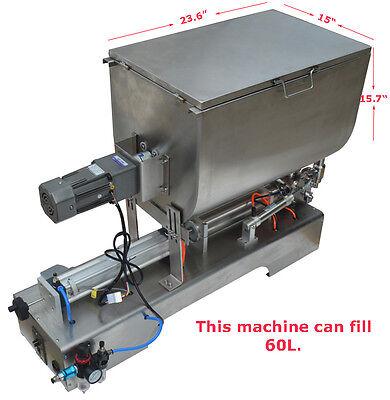 100-1000mlliquid Paste Filling Mixing Machine Piston Filler Machine Brand New