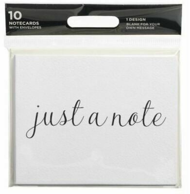 WHSmith Just A Note Blank Small  Notecards With White Envelopes Pack Of 10