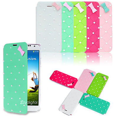 Pearl Leather Wallet Flip Case Cover Samsung Galaxy S4  Pearl Flip Case