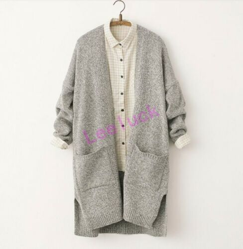 Купить Unbranded - New School Girls  Knitted Cardigan Loose Womens Long Sleeve Jacket Coat Sweater