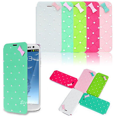 Pearl Leather Wallet Flip Case Cover Samsung Galaxy S3 Pearl Flip Case