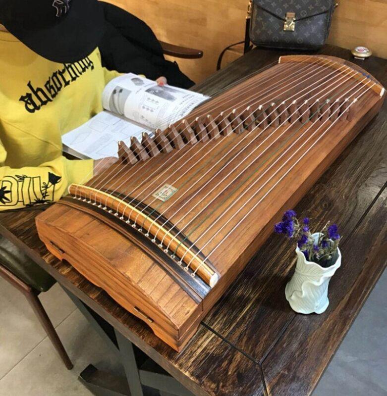 "Concert Grade Child 33"" 21-String Guzheng Portable Chinese Zither Harp Koto#1555"