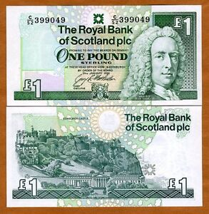 Scotland Royal Bank, 1 pound, 1996, P-351 (351c), UNC