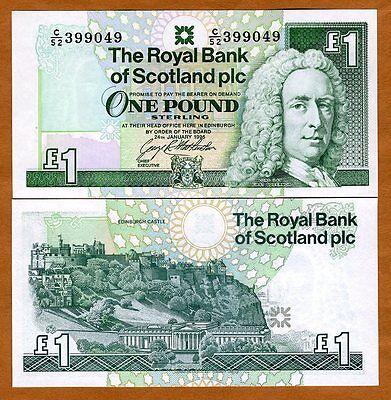 Scotland Royal Bank  1 Pound  1996  Pick 351  351C   Unc