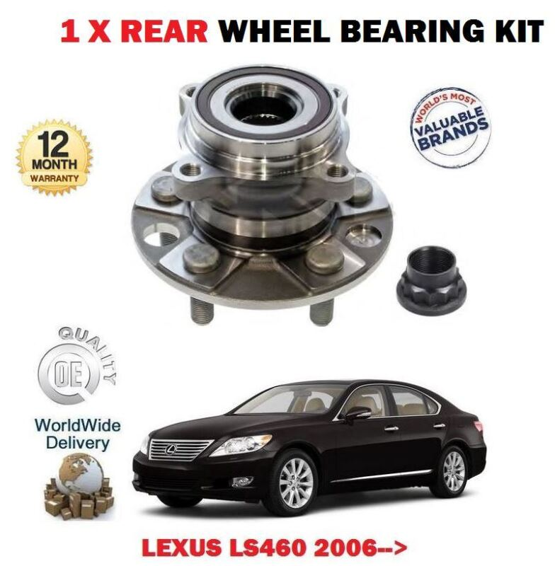 FOR LEXUS LS460 1UR-FSE 4.6 2006-> 1 X REAR WHEEL BEARING HUB KIT 4241050041