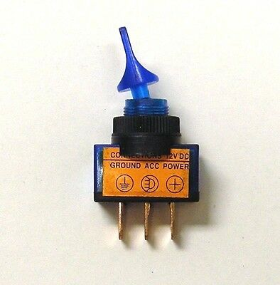 BBT Marine Blue LED Lighted Heavy Duty 20 a 12 v on/off Toggle Switch