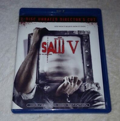 Saw V (Blu-ray Disc, 2009, 2-Disc Set, Unrated Director's Cut) Tobin Bell