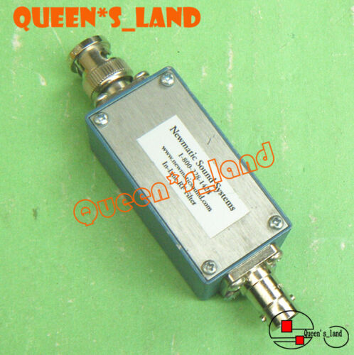 1× Newmatic Sound 1-800-228-1428 1.4-1.8GHz BNC Bandpass In-Line RF Filter