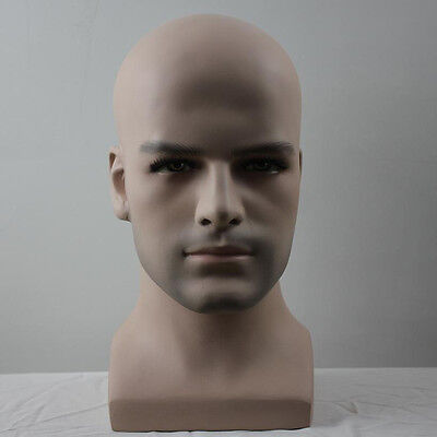 2019 Realistic Fiberglass Mannequin Male Dummy Head For Hat And Wig Show