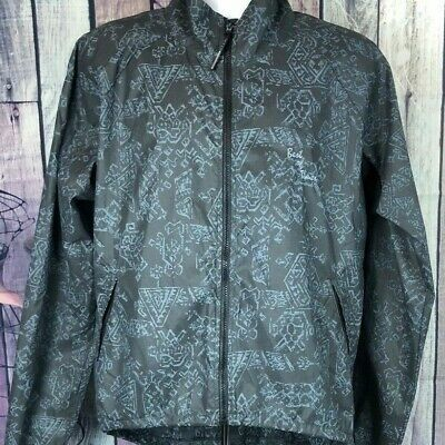 Best of Times Men Black Rain Coat Reflective Running Jacket Wind Breaker Sz
