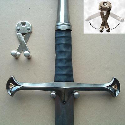Wall Hanger Sword Hook for Medieval Long Sword Arming Dagger Long Blade NEW