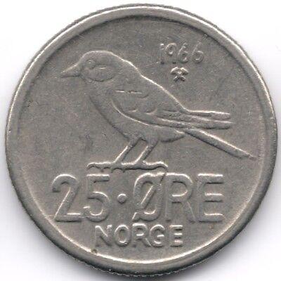 Norway : 25 Ore 1966