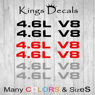 FORD MUSTANG 4.6L V8 Hood Scoop DECAL SET 99-04 05-09 Sticker F150 Many -