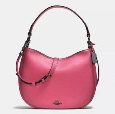 NWT Coach Nomad Crossbody in Burnished Glovetanned Leather Cerise (Coach Nomad Crossbody In Burnished Glovetanned Leather)