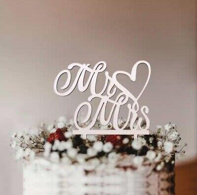 Rustikal Hochzeitstorte Topper,Mr & Mrs deko aus Holz