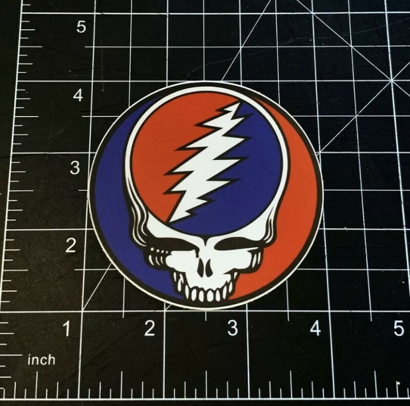 """Steal Your Face Grateful Dead stealie 3"""" Premium Vinyl Sticker Jerry Garcia"""
