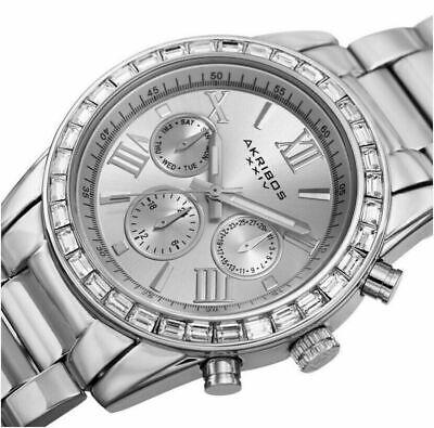 Akribos XXIV AK943SS Swarovski Crystal Bezel Women's Watch