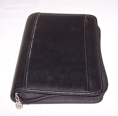 Black 365 Franklin Covey 6 Ring Day Planner With Inserts And Storage