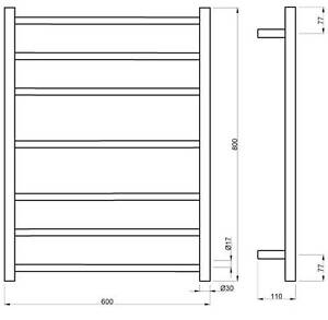 Square or Round - Heated Towel Ladders From $240 Paradise Campbelltown Area Preview