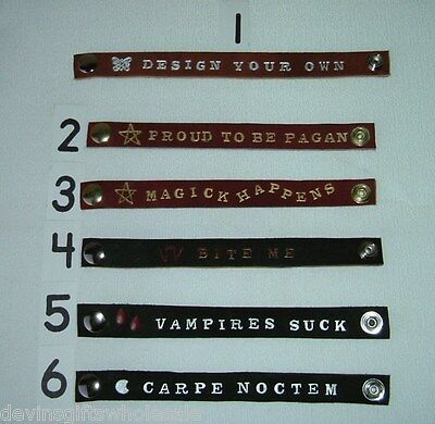 #BR11*DESIGN YOUR OWN GOTH ,  PUNK OR PAGAN   BRACELET 1/2 - - Design Your Own Wristband