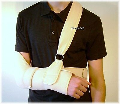 Arm Sling Shoulder Immobilizer Padded Support Brace Universal New by Flexibrace