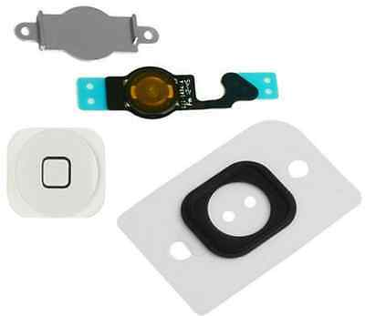 OEM Home Menu Button Key Cap Flex Cable Bracket Holder for Apple iPhone 5 WHITE